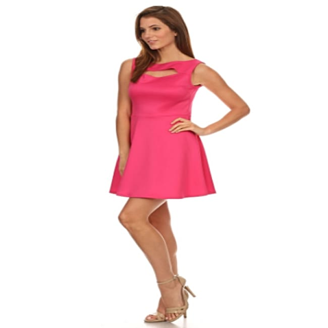 Women's Relaxed Fuchsia Sleeveless Dress