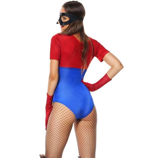 Ladies Spider Girl Webbed Avenger Costume for Cosplay - Costume