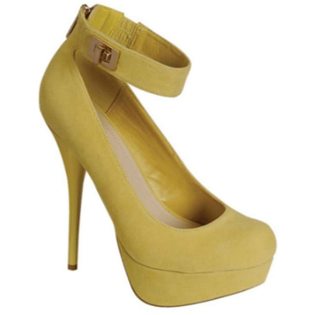 Lemonade by Bamboo High Heel Shoes - 7.5 / yellow - Shoes