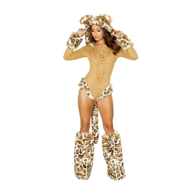 Leopard Princess Costume Set - Small / Honey - Costumes