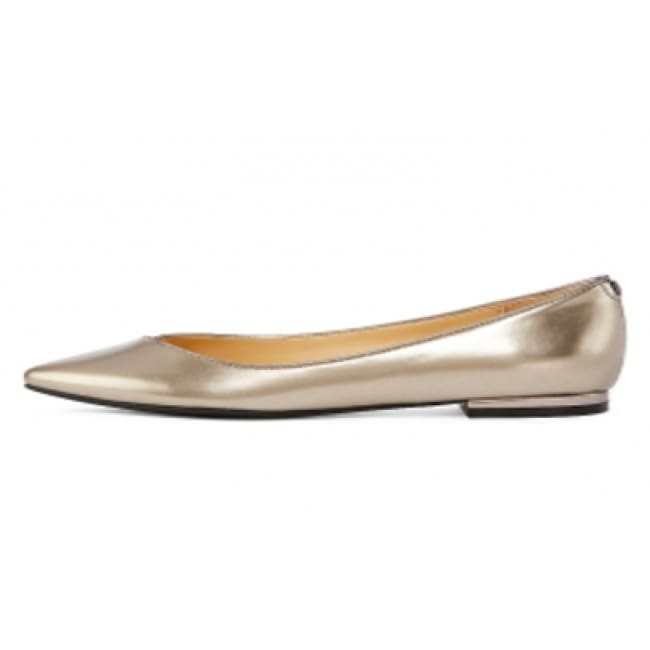 Liz Claiborne® Aba Pointed-Toe Ballet Flats Pewter - Shoes