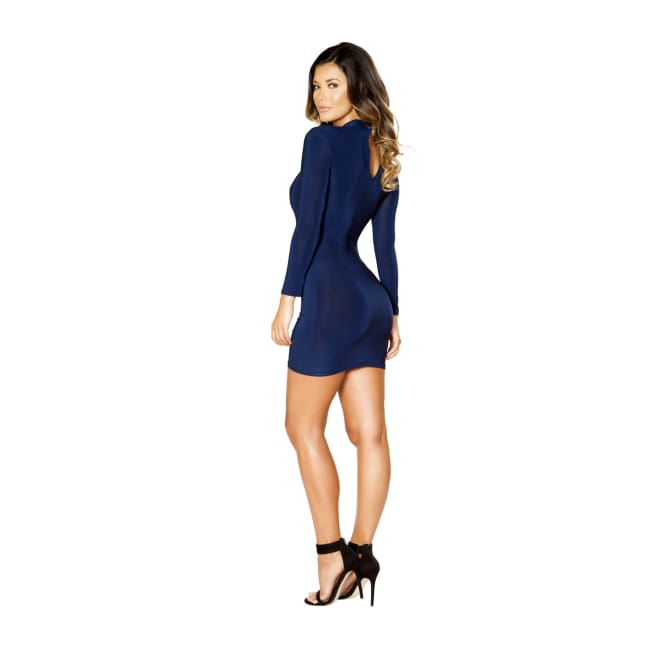 Long Sleeve Dress with Cutout Detail - Mini Dresses