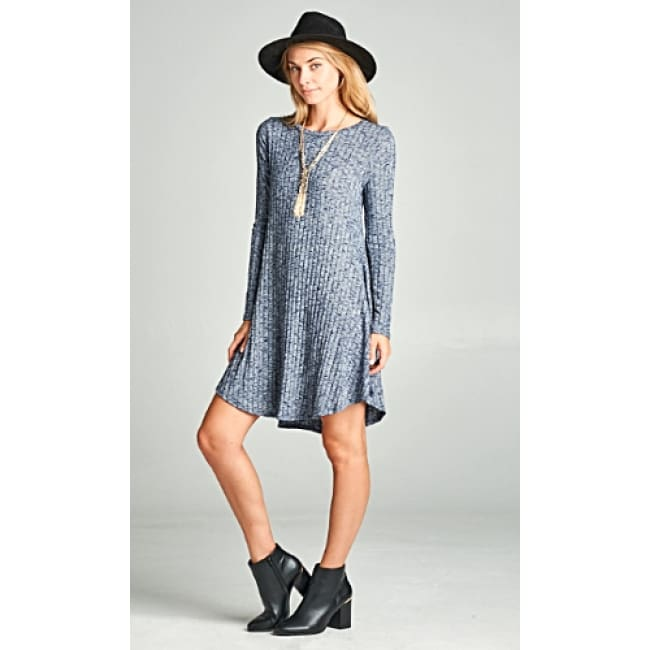 Loose Fit Knit Dress - Dresses
