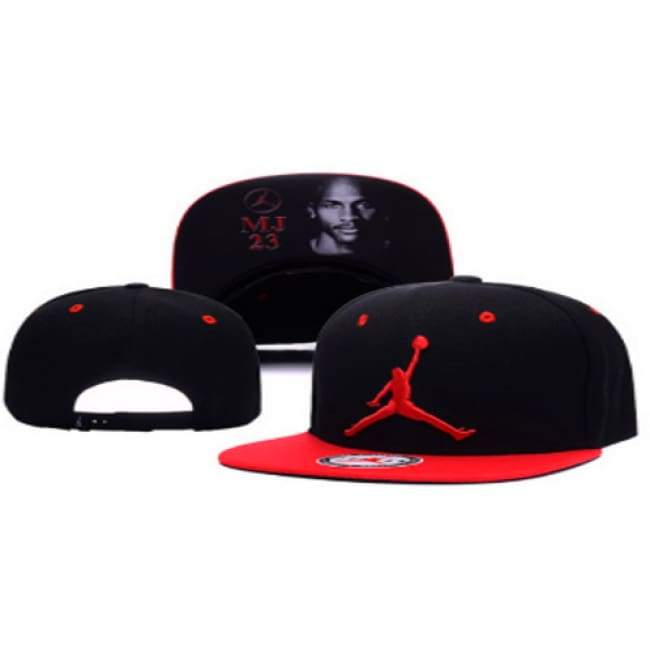 MJ23  Adjustable Snap Back Hat Black
