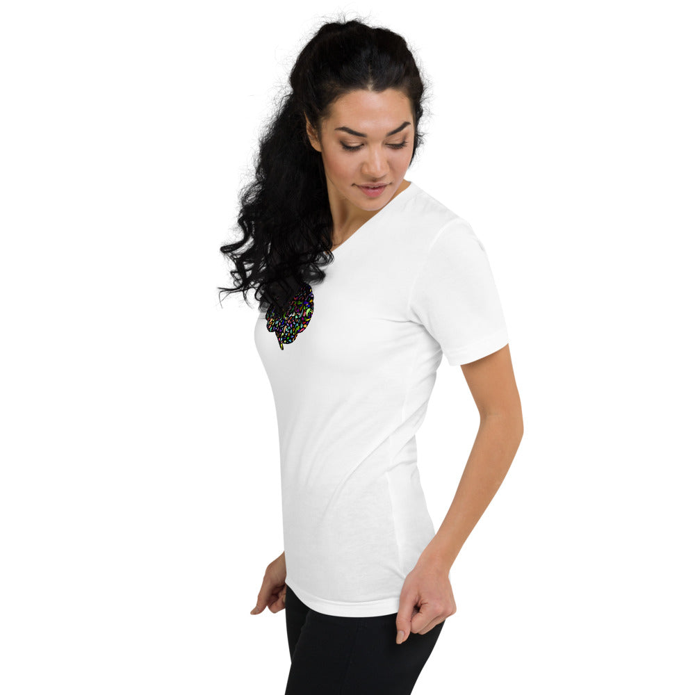 Stepping Stone Unisex Short Sleeve V-Neck T-Shirt