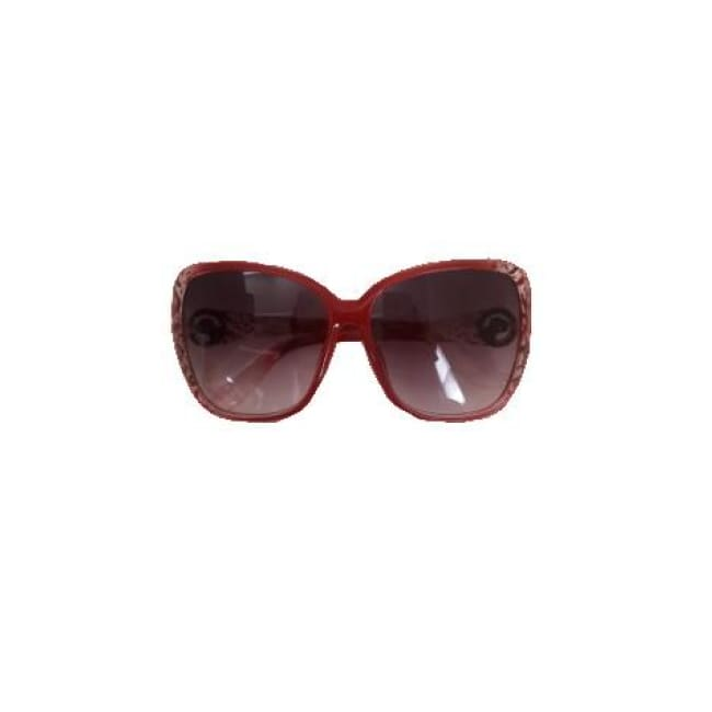 Panther Embellished Sunglasses - Maroon - Glasses
