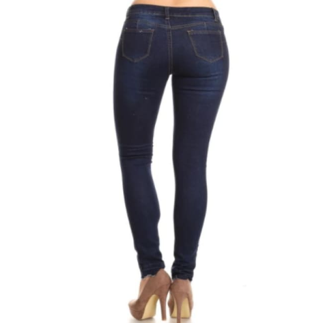 Premium Denim Cotton Jeans - Bottoms