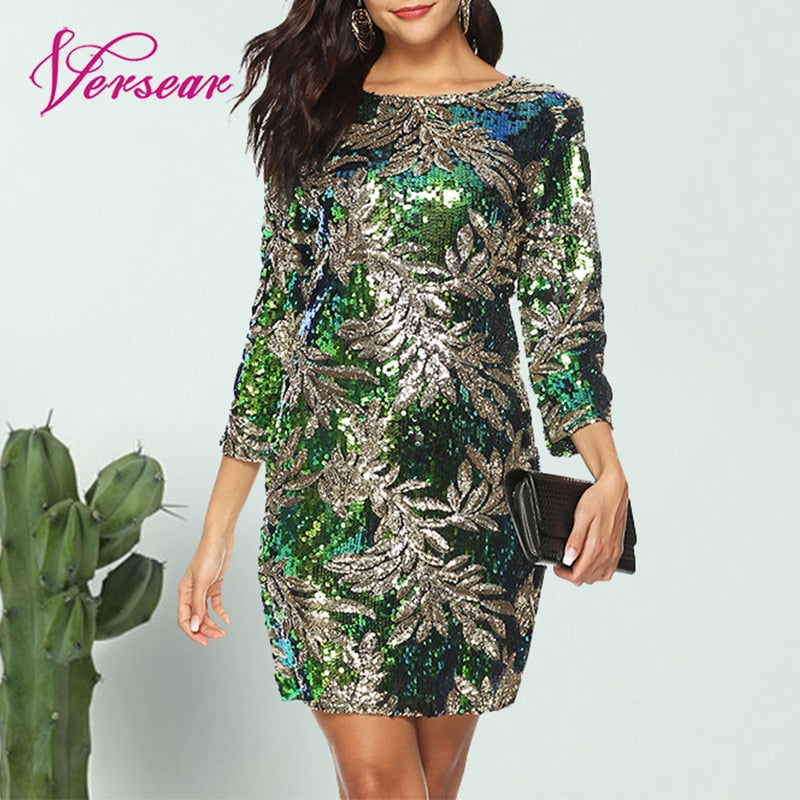 Sequined Evening Party Casual Mini Dress