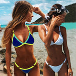 Solid Push up Micro Bikini Swimsuit