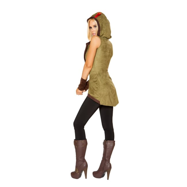 Sexy Hooded Outlaw Costume - Costumes