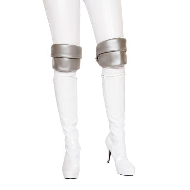 Silver Knee Pads - One Size / Grey - Leg Warmers
