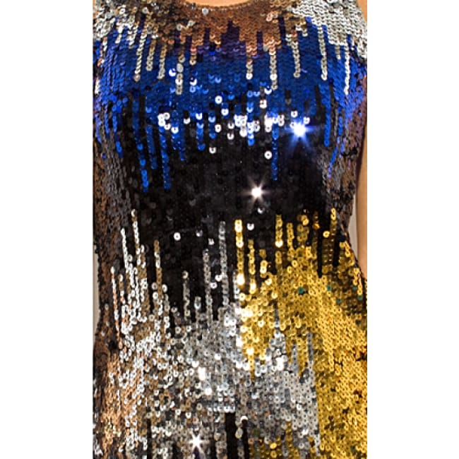 Silver Sequined Sexy Dress - Dresses
