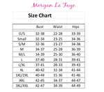 Morgan Le faye LLC sexy clothing online size chart