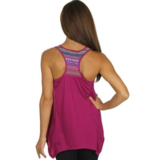 Sleeveless Racer Back Solid Active Wear Top - Tops