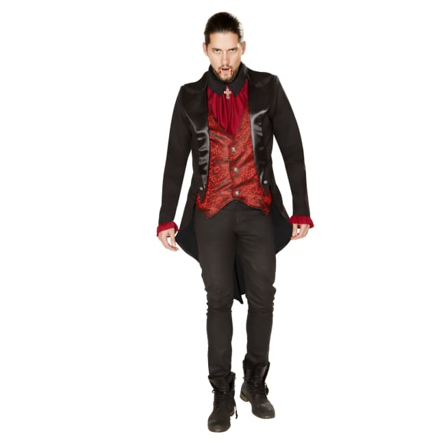 Terror of the Night Vampire Costume Set - Small / Red/Black - Costumes mens