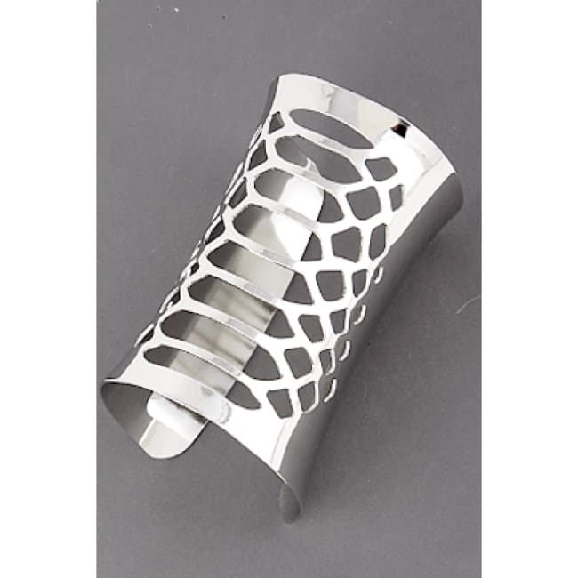 The Gauntlet - Women's Silver Gauntlet Style Cuff Bangle