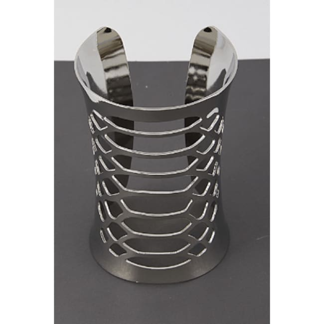 The Gauntlet - Womens Silver Gauntlet Style Cuff Bangle - Accessories