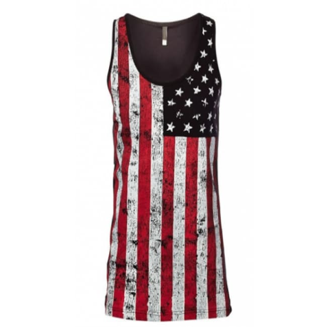 This is America Stars and Bars Tank - S / Black - Tops