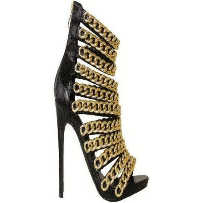 Trapstar Snake Skin Stiletto Booties