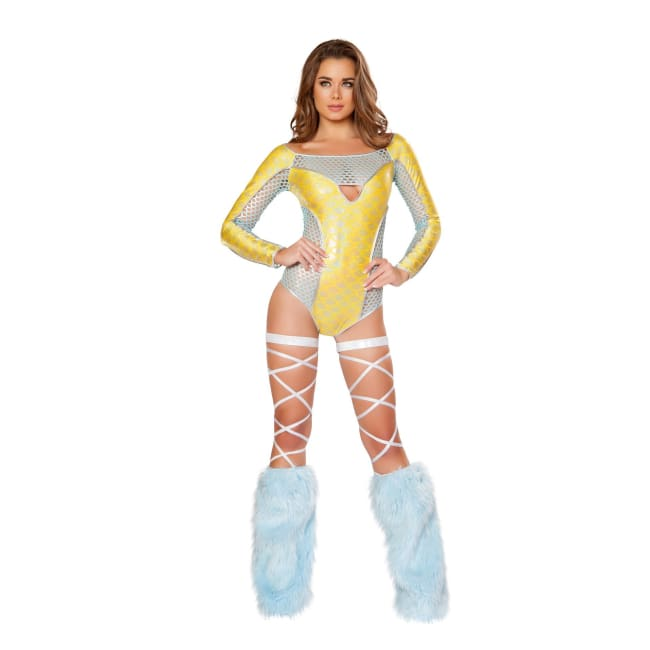 Two Tone Mermaid Suit - S/M / Yellow - Costume