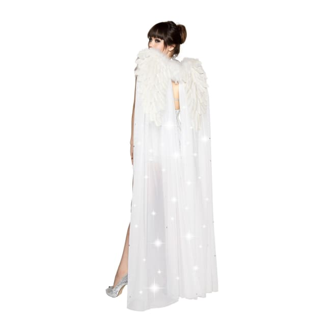 White Double Layer Wings - White - Costume