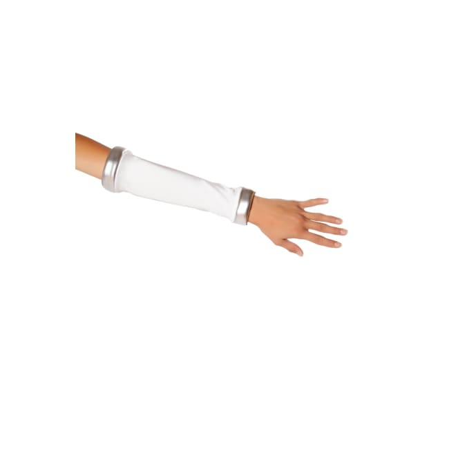 White Space Commander Gloves - One Size / White/Silver - Costumes
