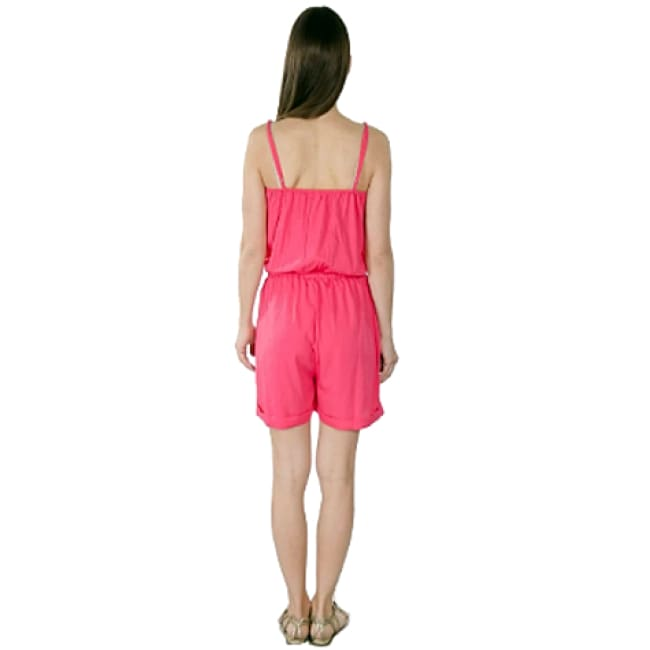 Womens Adjustable Spaghetti Straps Romper - Bottoms