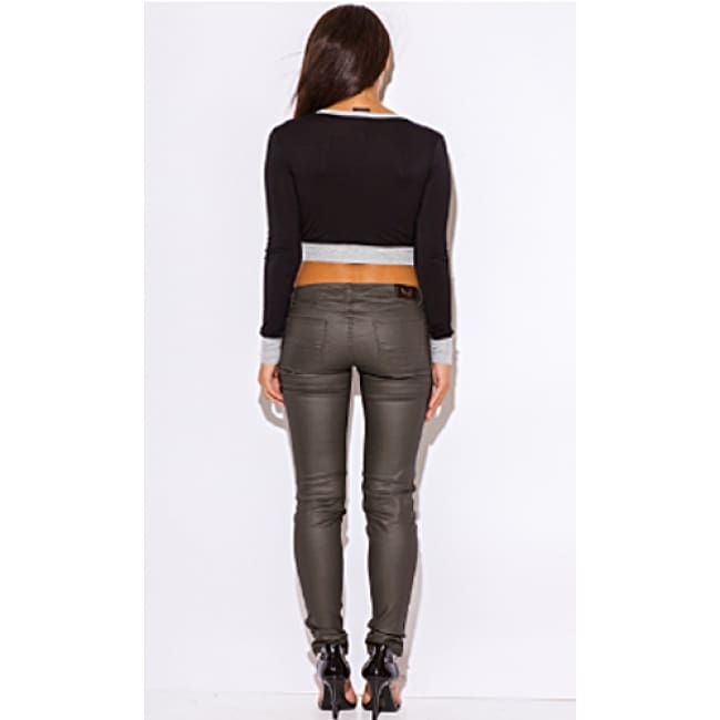Womens Denim Mid Rise Jeans - Bottoms