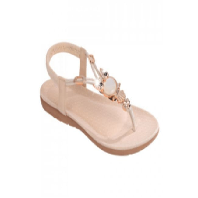 Womens Peach Opal Owl Sandal Shoes - 7 / Tan - Shoes