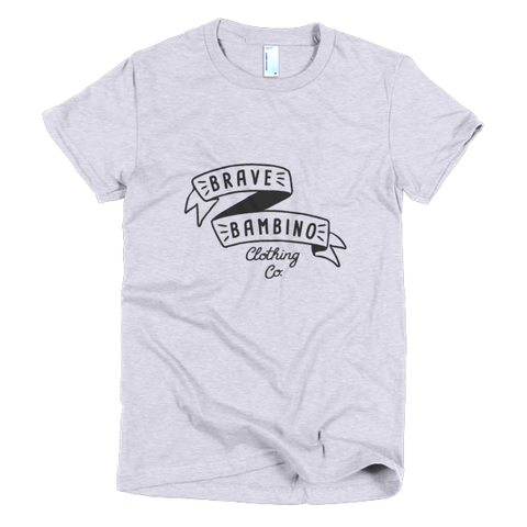 Brave Bambino Women's Tee - Heather Grey