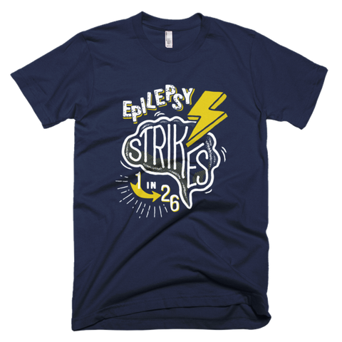 Epilepsy Strikes Men's Tee - Navy