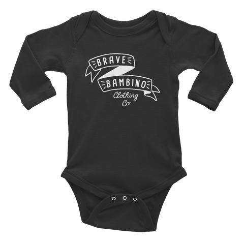 Brave Bambino Long Sleeve Onesie - Black