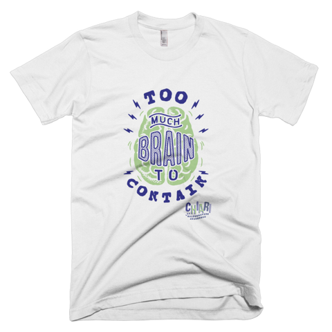 Too Much Brain To Contain Men's Tee - White