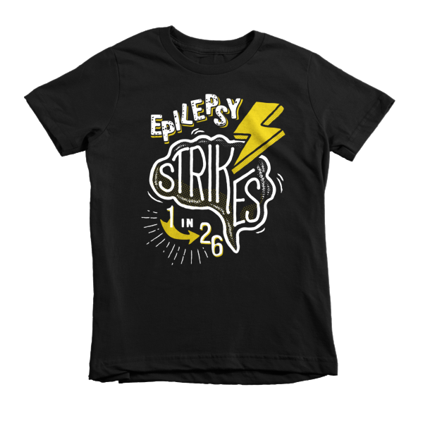 Epilepsy Strikes Kid's Tee - Black