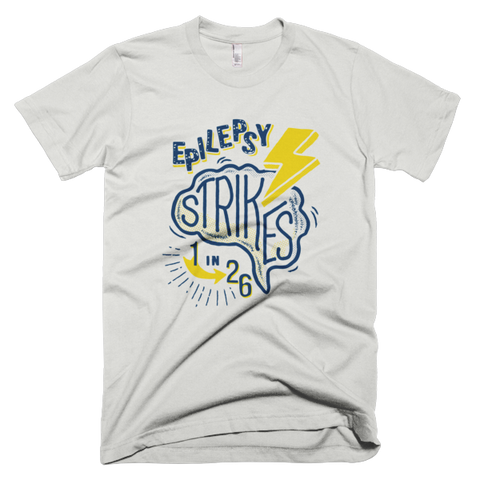 Epilepsy Strikes Men's Tee - New Silver
