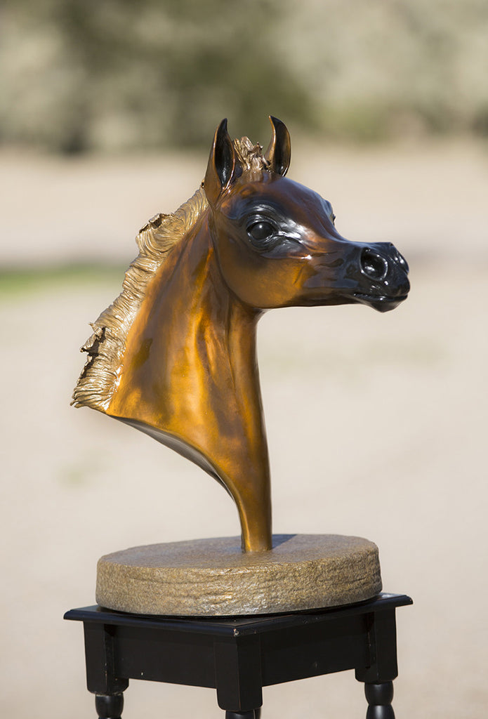 """Charisma"" Life Size Filly Head Bronze"
