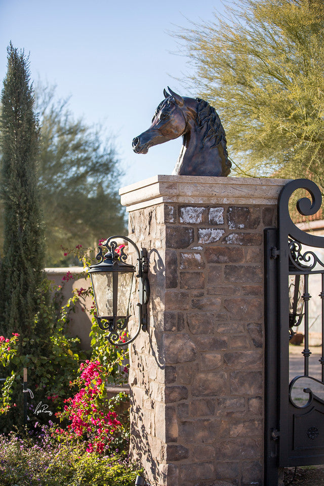 "Large Arabian Head Bronze for fountains and gate toppers 32"" x 32"""