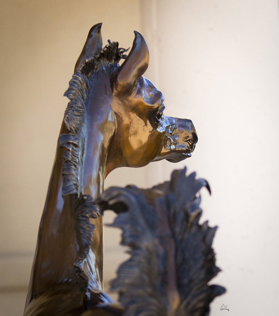 """Charisma"" Life Size Filly Bronze"