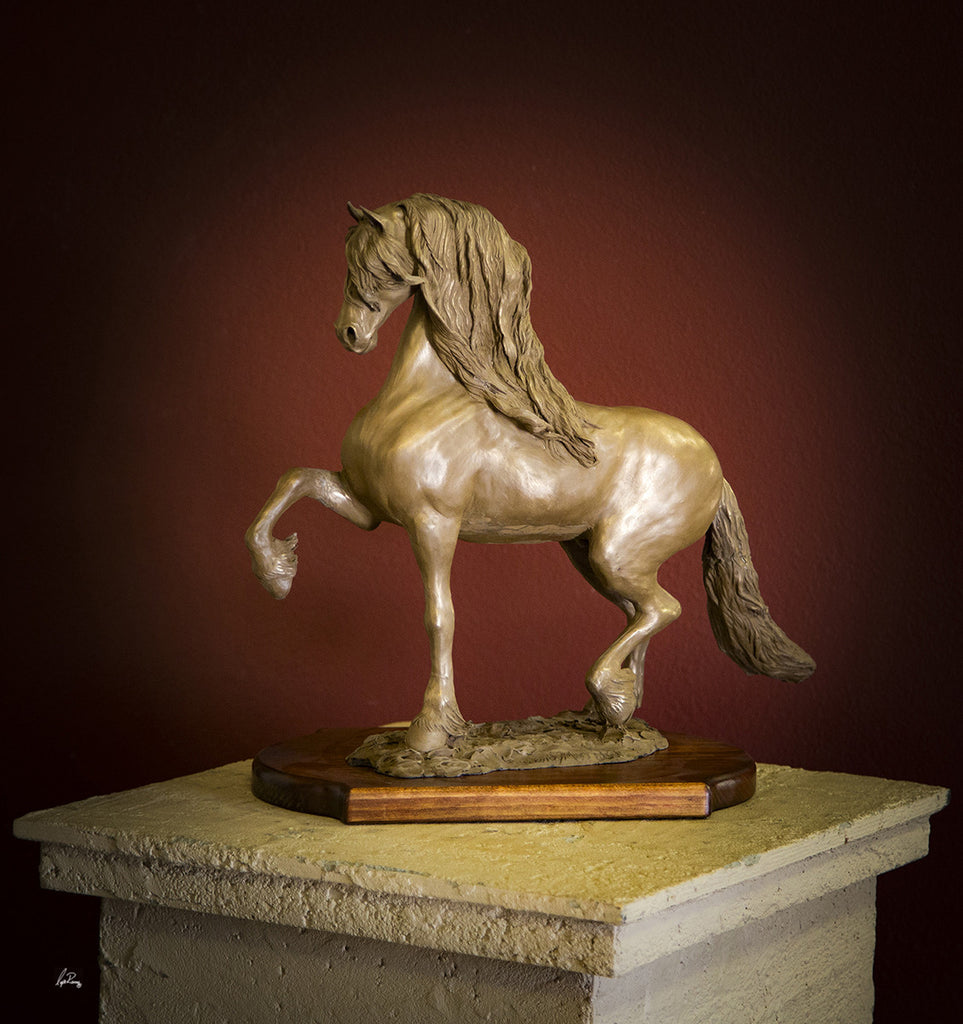 """Steppin' Out""  Friesian Cold Cast Bronze  20"" x 18"""