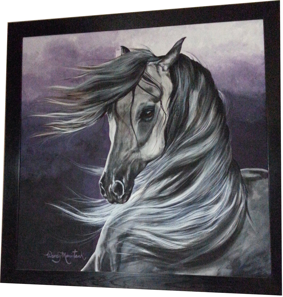 "Rico (Arabian / Andalusian Horse) - 40"" x 40"" Original Framed Painting"