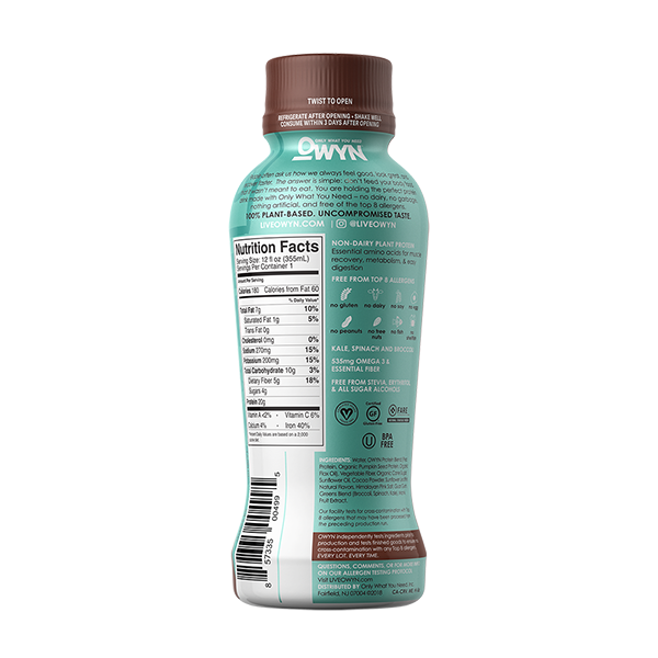 Dark Chocolate Protein Drink - 12 ounces, 4 bottles