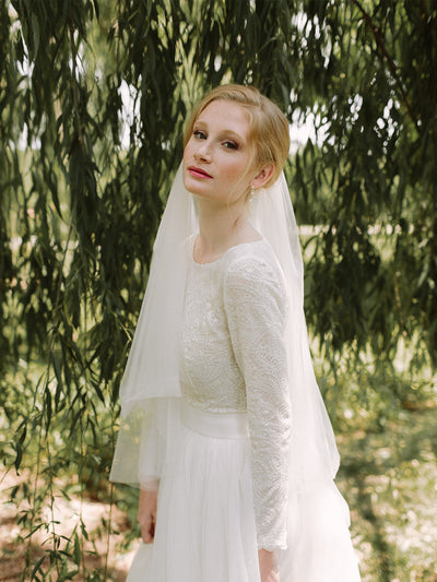 Classic Tulle Wedding Veil. Lace & Liberty
