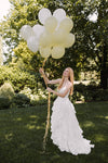 Chateau Ruffled Skirt & Classic Corset: Bridal Separates. Custom made wedding dress by Lace & Liberty