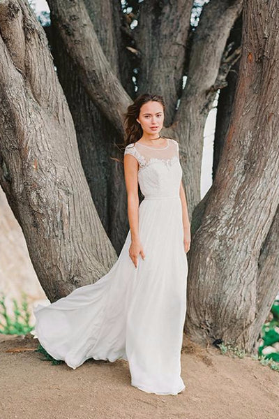 Muse bridal chiffon skirt & Phoenix dress. Custom made wedding dress by Lace & Liberty