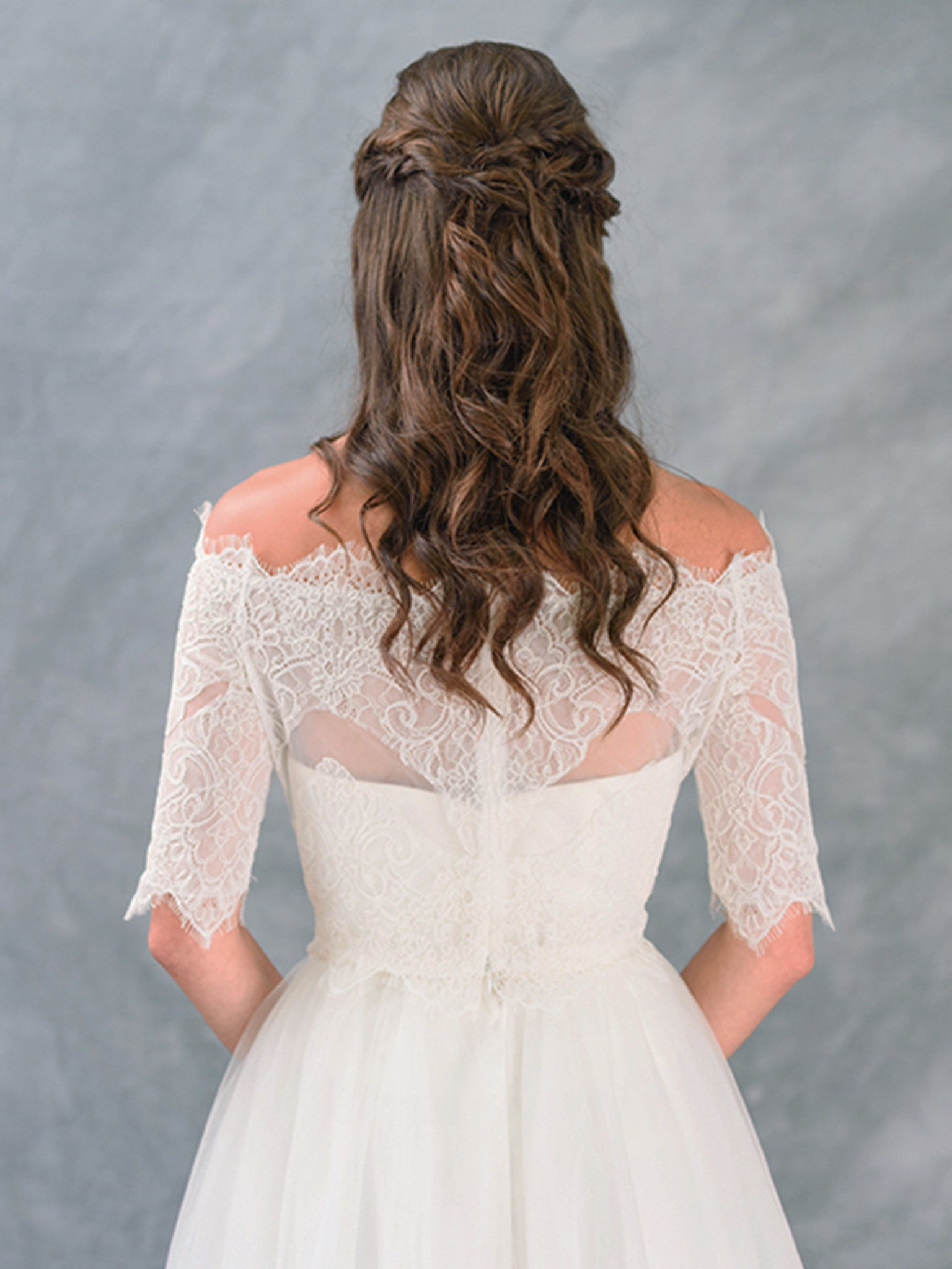 Off Shoulder Lace Half Sleeve Topper - Lace & Liberty