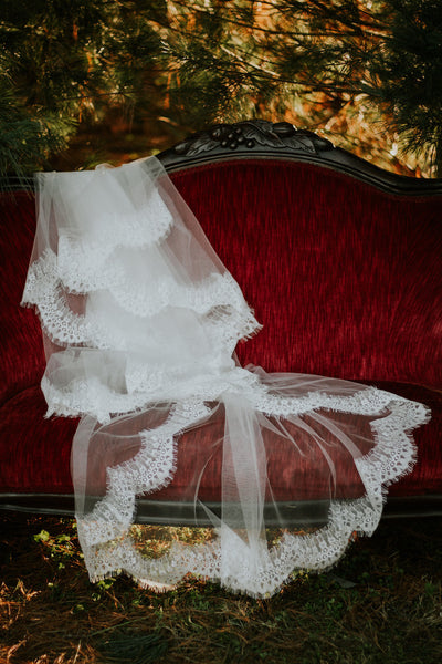 Cathedral Length Lace Edge Veil
