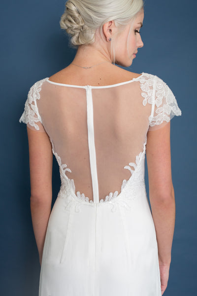 Lace & Liberty Athena dress back detail - Custom Made Wedding Dress by Lace & Liberty