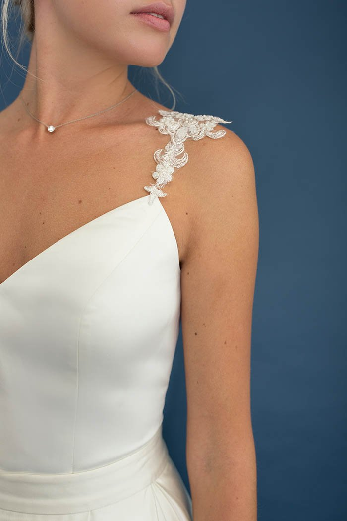 Galleria V-Neck Satin Corset - Bridal Separates - Custom made wedding dress with Lace & Liberty