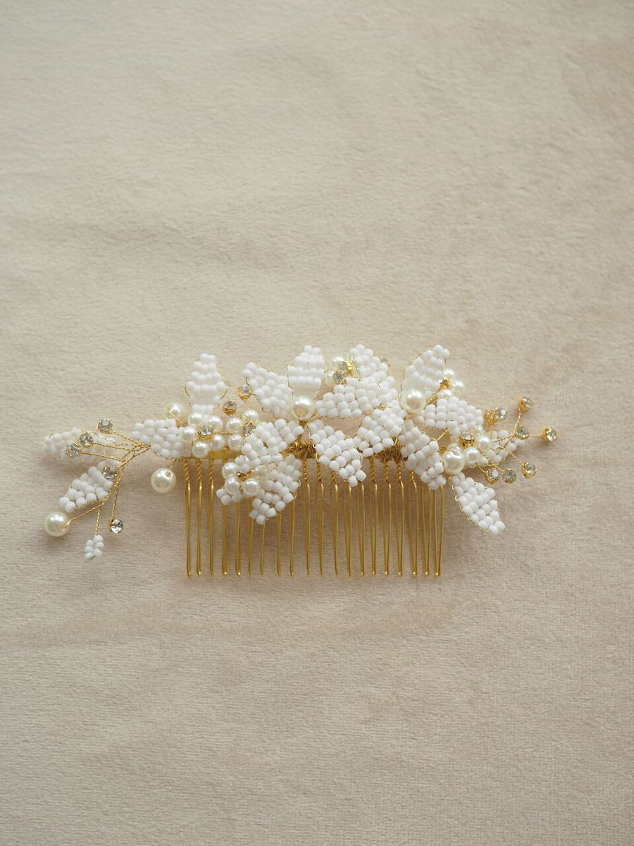 Art Deco bridal comb. Lace & Liberty