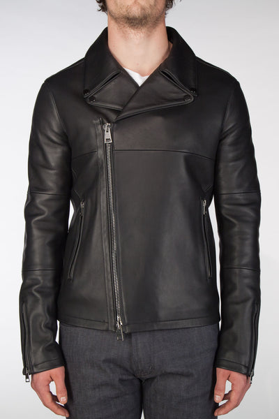 Leather Moto Jacket - Black